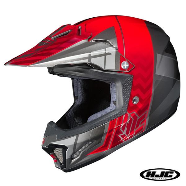 HJC CL-XY2 クロスアップ キッズ用 オフロードヘルメット 【レッド M(51-52cm):HJH099】
