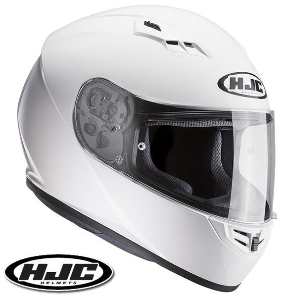 HJC CS-15 ソリッド フルフェイスヘルメット 【ホワイト L(59-60cm):HJH113】
