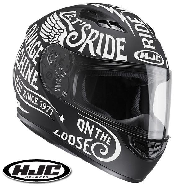 HJC CS-15 レブル フルフェイスヘルメット 【ホワイト M(57-58cm):HJH117 REBEL】
