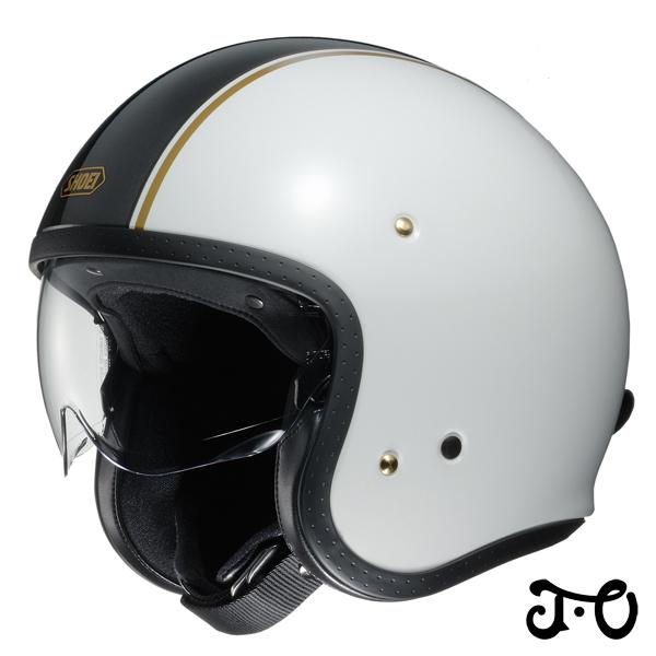 ショウエイ J.O CARBURETTOR(キャブレター) ジェイ・オー ジェットヘルメット 【TC-6(WHITE/BLACK) Sサイズ】