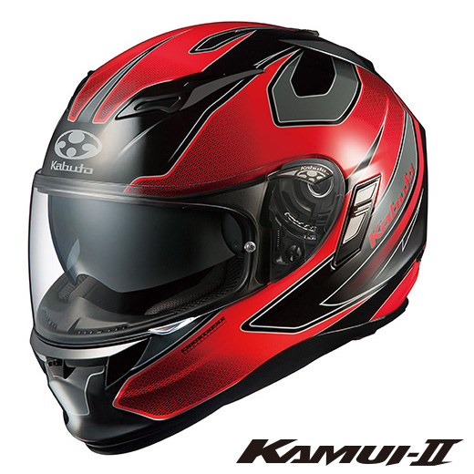 OGK KAMUI-2 STINGER カムイ2 スティンガー フルフェイスヘルメット 【ブラックレッド Mサイズ】