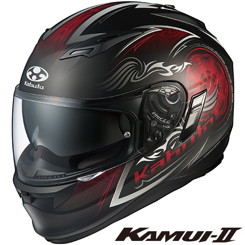 OGK KAMUI-2 BLAZE カムイ2 ブレイズ 【フラットブラックレッド Lサイズ】 フルフェイスヘルメット