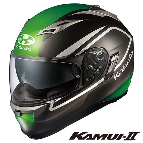 OGK KAMUI-2 CLEGANT (カムイ2 クレガント) フルフェイスヘルメット 【フラットブラックグリーン XLサイズ】