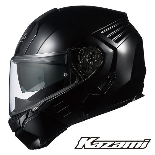 OGKカブト KAZAMI (カザミ) システムヘルメット 【ブラックメタリック Sサイズ】