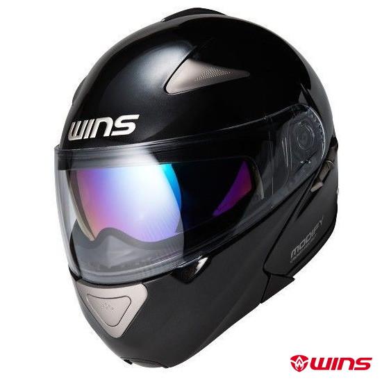 WINS MODIFY システムヘルメット 【メタリックブラック:Mサイズ】