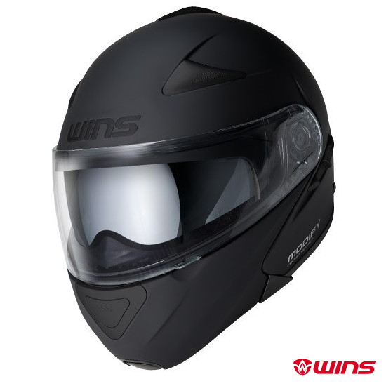 WINS MODIFY WILD MAX システムヘルメット 【オールマットブラック:XLサイズ】