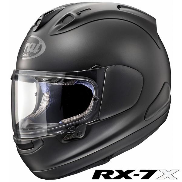 アライ RX-7X フルフェイスヘルメット 【フラットブラック XL(61-62cm)サイズ】