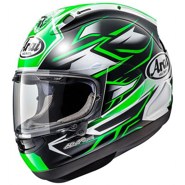 アライ RX-7X GHOST 緑 Lサイズ ゴースト フルフェイスヘルメット 迎春 お配り物 喜寿祝