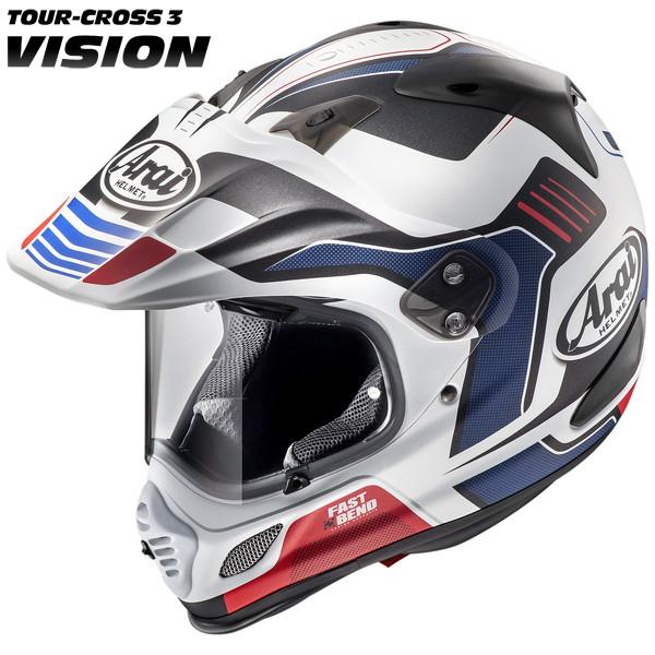 アライ TOUR CROSS3 VISION 【レッド Mサイズ】 ビジョン オフロードヘルメット つや消しカラー