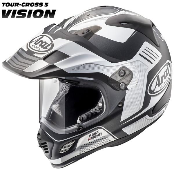 アライ TOUR CROSS3 VISION 【ホワイト Mサイズ】 ビジョン オフロードヘルメット つや消しカラー
