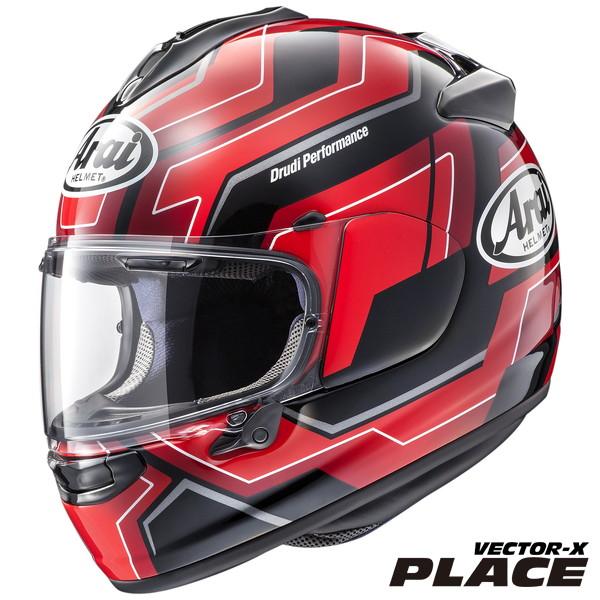 アライ VECTOR-X PLACE 【レッド Lサイズ】 プレイス フルフェイスヘルメット