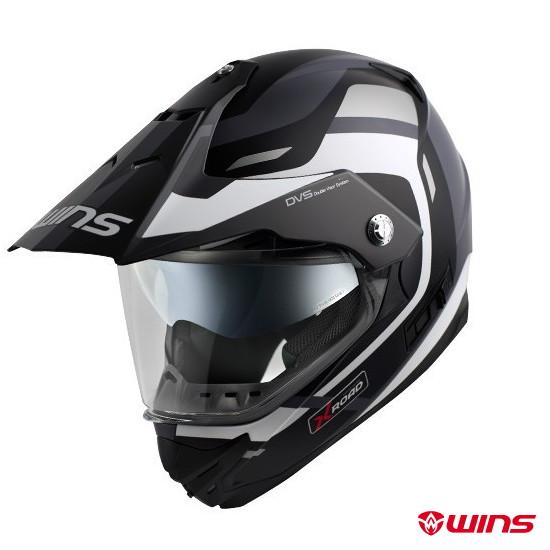WINS X-ROAD FREE RIDE インナーバイザーつき オフロードヘルメット 【マットブラック×ホワイト:XLサイズ】