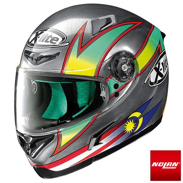 【M(57-58cm)】 X-LITE X-802RR シャハリン スクラッチドクローム フルフェイスヘルメット MFJ公認 Mサイズ