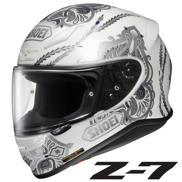 ショウエイ Z-7 DUCHESS (ゼット-セブン ダッチェス) フルフェイスヘルメット 【TC-6(WHITE/SILVER) Lサイズ】