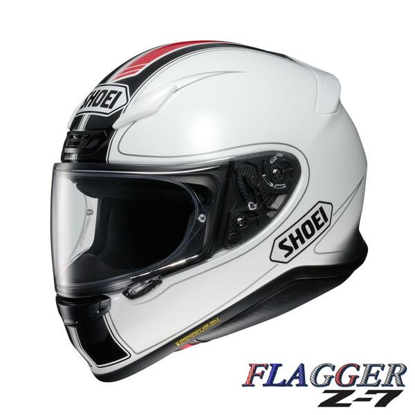 ショウエイ Z-7 FLAGGER (フラッガー) 【TC-6(WHITE/RED) Lサイズ】 フルフェイスヘルメット