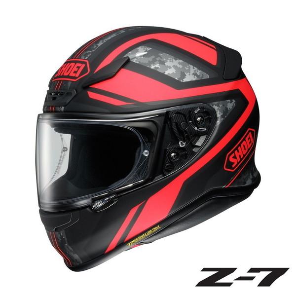 ショウエイ Z-7 PARAMETER (パラメーター) 【TC-1(RED/BLACK) Mサイズ】 フルフェイスヘルメット ※マット(つや消し)カラー