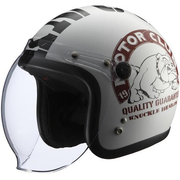 KNUCKLE HEAD BULL2(ホワイト/ブラック) ナックルヘッド ジェットヘルメット ブル2