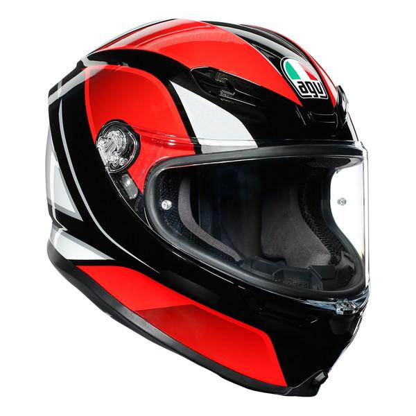 AGV K6 HYPHEN (BLACK/RED/WHITE) 【S(55-56cm)サイズ】 フルフェイスヘルメット