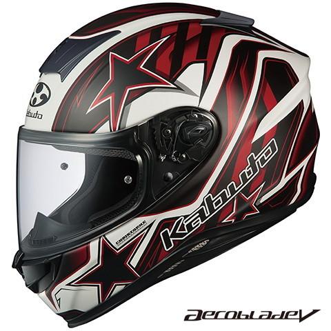 OGK エアロブレード5 VISION(ビジョン) 【フラットブラックレッド XLサイズ】 フルフェイスヘルメット Aeroblade-5