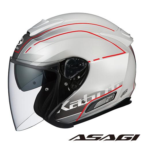 OGK ASAGI BEAM アサギ ビーム 【パールホワイト XLサイズ】 ジェットヘルメット