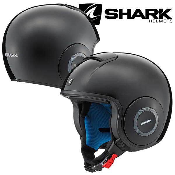 SHARK DRAK HELMET BLANK 【BLACK Lサイズ】 ダラク ジェットヘルメット <ゴーグル&マスクセット> Q2C-LIK-Y01-L03