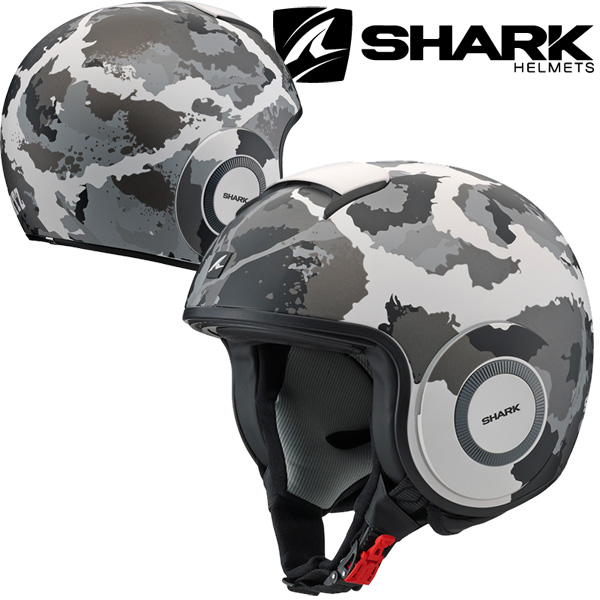 SHARK DRAK HELMET KURTZ KAMO 【WHITE Lサイズ】 ダラク ジェットヘルメット <ゴーグル&マスクセット> Q2C-LIK-Y02-L76