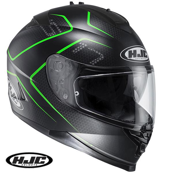 HJC HJH132 IS-17 ランク フルフェイスヘルメット GREEN 【Mサイズ】