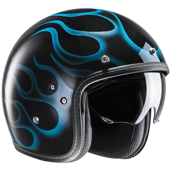 HJC HJH153 FG-70S 【アリエス ブルー Mサイズ】 スモールジェットヘルメット