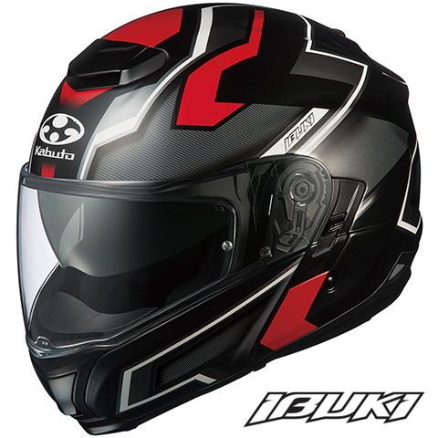 OGK IBUKI DARK (イブキ ダーク) 【フラットブラックレッド XLサイズ】 システムヘルメット