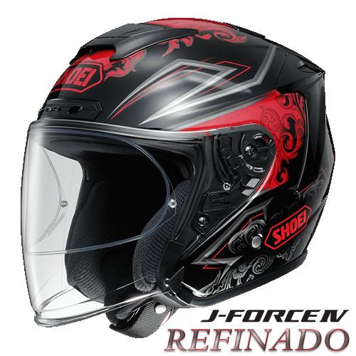 ショウエイ J-FORCE4 REFINADO 【TC-1(RED/BLACK) Sサイズ】 ジェットヘルメット レフィナード