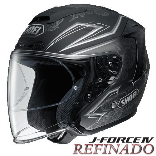 ショウエイ J-FORCE4 REFINADO 【TC-10(SILVER/BLACK) XLサイズ】 ジェットヘルメット レフィナード