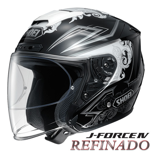 ショウエイ J-FORCE4 REFINADO 【TC-5(WHITE/BLACK) Lサイズ】 ジェットヘルメット レフィナード