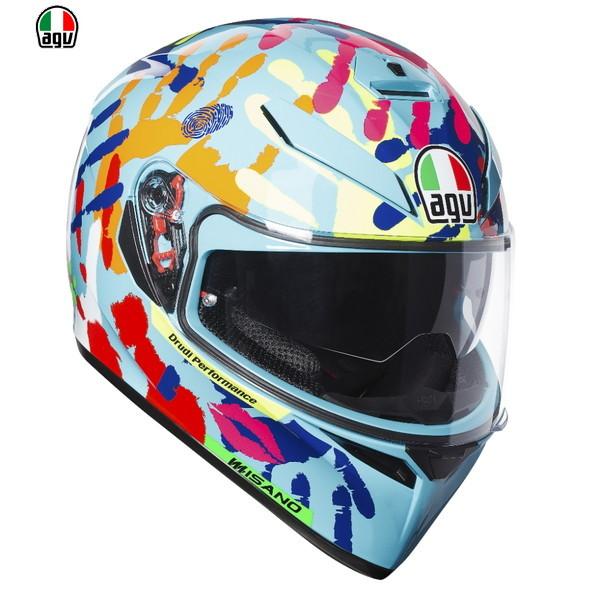 AGV K-3 SV MISANO 2014 【XLサイズ】 V・ロッシ選手レプリカ フルフェイスヘルメット 【SG規格/日本国内正規代理店品】