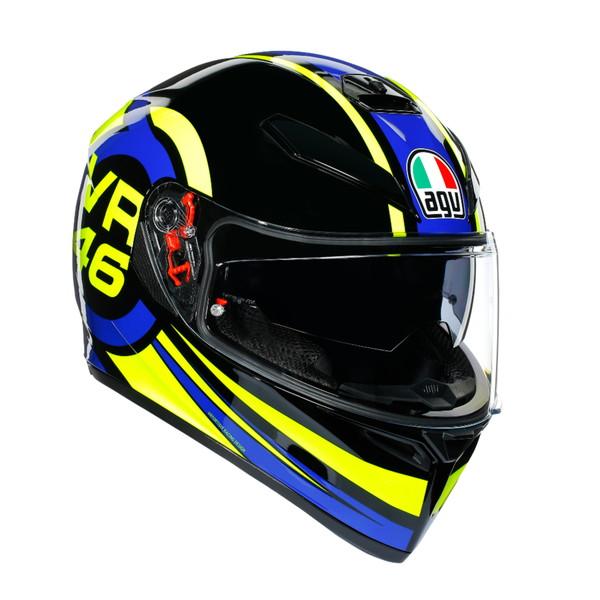 AGV K-3 SV MPLK RIDE 46 【S(55-56cm)サイズ】 フルフェイスヘルメット VR46 グラフィックモデル
