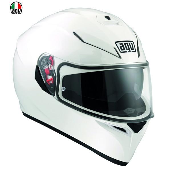 AGV K-3 SV 【WHITE : Mサイズ】 フルフェイスヘルメット 【SG規格/日本国内正規代理店品】