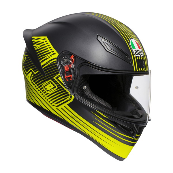 AGV K1 EDGE 46 【XLサイズ】 V・ロッシ選手レプリカ フルフェイスヘルメット 【SG規格/日本国内正規代理店品】