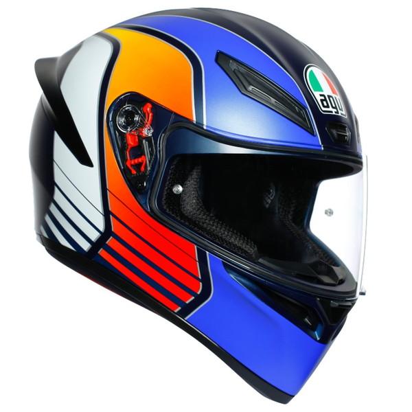 AGV K1 POWER 【MATT DARK BLUE/ORANGE/WH M(57-58cm)サイズ】 フルフェイスヘルメット