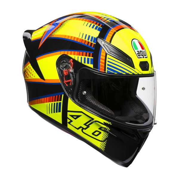 AGV K1 SOLELUNA 2015 【Lサイズ】 V・ロッシ選手レプリカ フルフェイスヘルメット 【SG規格/日本国内正規代理店品】