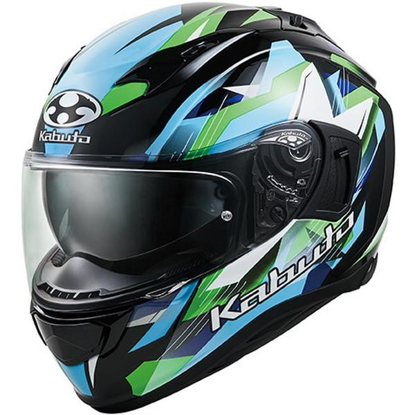 OGKカブト KAMUI-3 STARS 【ブラックグリーン XLサイズ】 カムイ3 スターズ フルフェイスヘルメット