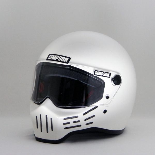 シンプソン M30 【ホワイト 57cm】 MODEL 30 フルフェイスヘルメット