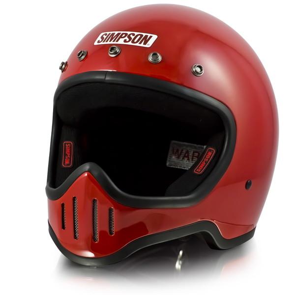 【送料無料】 シンプソン M50 【レッド 61-62cm】 MODEL 50 フルフェイスヘルメット