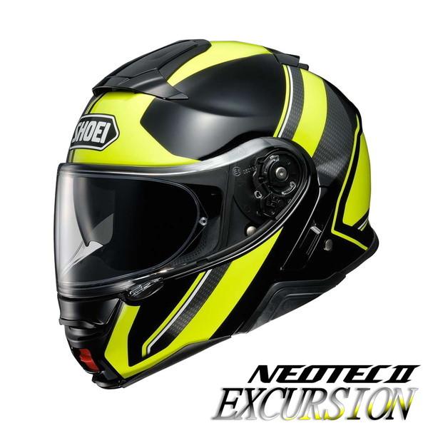 ショウエイ NEOTEC2 EXCURSION 【TC-3(YELLOW/BLACK) Sサイズ】 ネオテック2 エクスカーション システムヘルメット