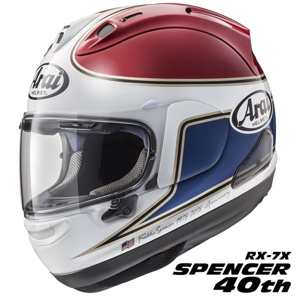 アライ RX-7X SPENCER 40th 【赤 XLサイズ】 フレディ・スペンサー氏 レプリカ フルフェイスヘルメット