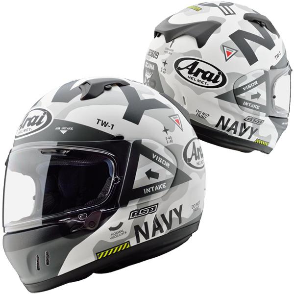 アライ×東単 XD NAVY 【つや消し白 Mサイズ】 フルフェイスヘルメット