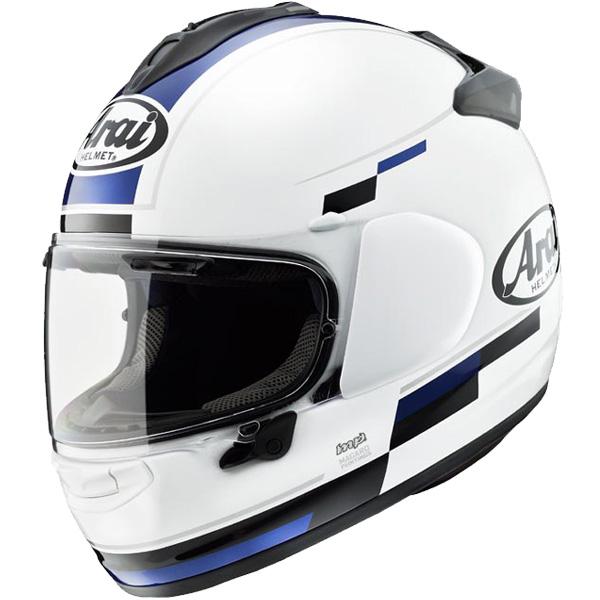 アライ×東単 VECTOR-X BLAZE 【白/青 : M サイズ】 フルフェイスヘルメット ベクターX ブレイズ