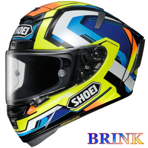 ショウエイ X-FOURTEEN BRINK 【TC-10(YELLOW/BLUE) XLサイズ】 X-14 ブリンク フルフェイスヘルメット