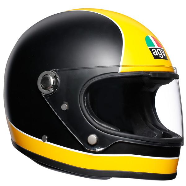 AGV LEGENDS X3000 (SUPER AGV MATT BLACK/YELLOW) 【XL(61-62cm)サイズ】 フルフェイスヘルメット 【SG規格/日本国内正規代理店品】