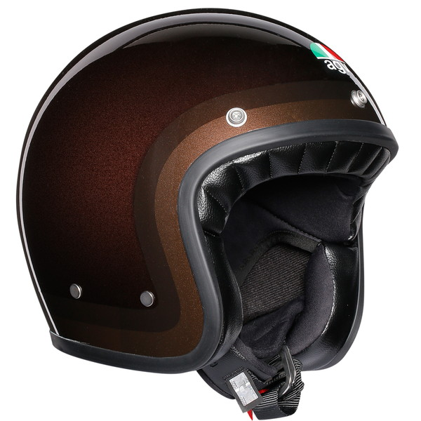 AGV LEGENDS X70 (TROFEO CHOCOLATE) 【L(59-60cm)サイズ】 スモールジェットヘルメット 【SG規格/日本国内正規代理店品】