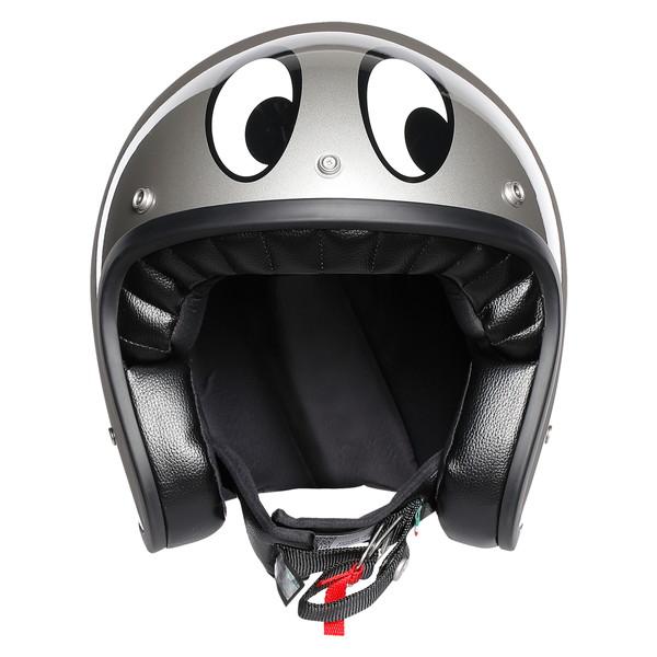 AGV LEGENDS X70 【MONTJUIC SILVER Lサイズ】 スモールジェットヘルメット