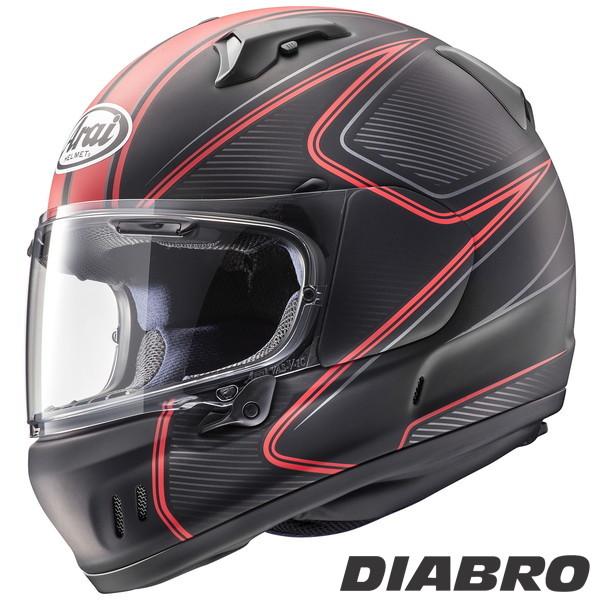 アライ XD DIABLO フルフェイスヘルメット 【ディアブロ・赤 L(59-60cm)サイズ】